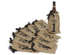 Burlap Wine Bag Table Numbers