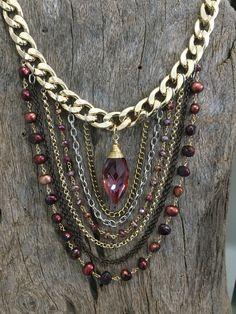 #Jewelry #fashion collar piedras semipreciosas  Rokk Monterrey