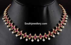 kundan Necklace latest jewelry designs - Page 8 of 49 - Indian Jewellery Designs Gold Jhumka Earrings, Gold Earrings Designs, Gold Jewellery Design, Necklace Designs, Gold Necklace, Bridal Necklace, Simple Necklace, Designer Jewelry, Bridal Jewelry