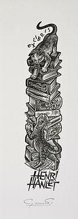 plate ii, book stuff, libri xxii, book plate, gatti neg, literari cat