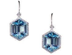 Blue Topaz Hexagon Drop Earrings - Color Story - Product Search - JCK Marketplace