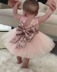 prettiest ball gown flower girl dresses, stunning rose gold sequined wedding party dresses Ball Gown Jewel Pink Tulle Flower Girl Dress with Lace Sequins Bowknot Flower Girls, Gold Flower Girl Dresses, Tulle Flower Girl, Tulle Flowers, Little Girl Dresses, Girls Dresses, Pink Tulle, Tulle Lace, Pink Lace