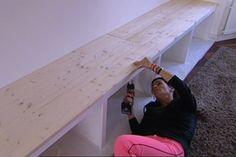Tv meubel of gewoon een mooie lange opbergplank, zitbank