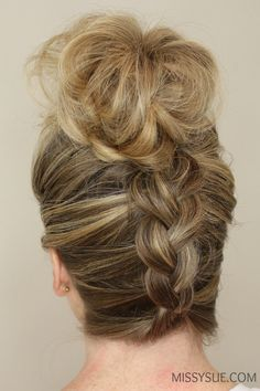 Upside Down Braid to Bun