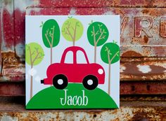 so cute for a little car lover! via Rosenberry rooms