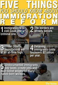 Facts about Immigration Reform - being informed is the first step!!!