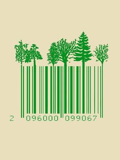 Barcode on Behance. love this tree barcode PD