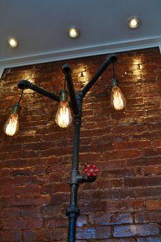 Industrial Steampunk Floor Lamp w/ Bronze by WestNinthVintage