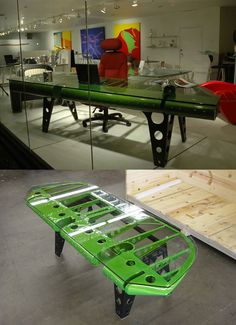 Airplane recycled furniture. Robynn I thought you might like this.