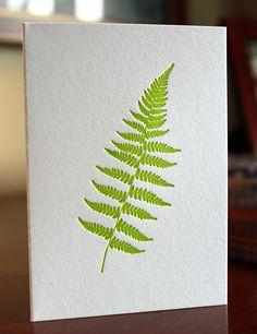 Fern Letterpress Card Set by Ornamentletterpress on Etsy, $14.00
