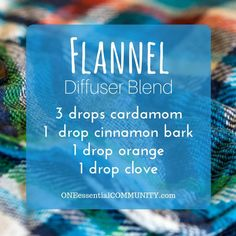 flannel diffuser blend PLUS recipes for 20 fall diffuser blends -- easy, non-toxic ways to make your home smell like fall using essential oils.  and there's even a FREE PRINTABLE of all the fall diffuser blend recipes!!