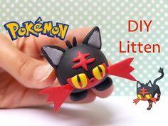 Pokemon Tsum Tsum Litten polymer clay tutorial