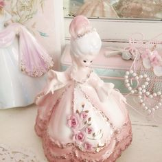 """sapphicbambi: """" I'm obsessed with these Josef figurines ♡ """" Rose Cottage, Cottage Chic, Vintage Princess, Princess Aesthetic, Pink Wallpaper Iphone, Pink Christmas, Boho, Shabby Chic Decor, Flower Girl Dresses"""