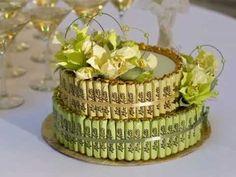 Торт из конфет. Подарок ручной работы - YouTube