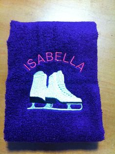 Personalized Ice Skater's Towel. $10.00, via Etsy.