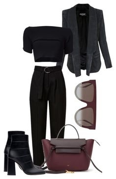 """""""Untitled #598"""" by jazz-mae on Polyvore featuring Balmain, CÉLINE, T By Alexander Wang and Zara"""