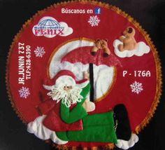 Molde: Pie de árbol Noel con paraguas