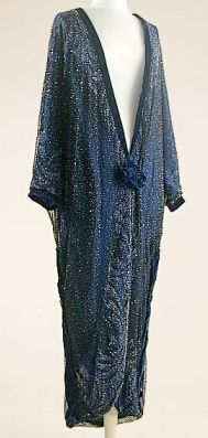 ~Midnight Blue Opera Coat 1920s~
