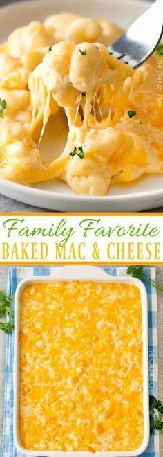 Family Favorite Bake Family Favorite Baked Mac and Cheese | Rich... Family Favorite Bake Family Favorite Baked Mac and Cheese | Rich and creamy baked mac and cheese filled with multiple layers of shredded cheeses and smothered in a smooth cheese sauce for the ultimate macaroni and cheese! | thechunkychef.com Recipe : http://ift.tt/1hGiZgA And @ItsNutella http://ift.tt/2v8iUYW