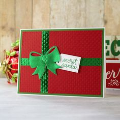 Boy, do I have a super easy Christmas card for you today! And welcome to Scrapbook Adhesives by + CardMaker® . Simple Christmas Cards, Christmas Paper Crafts, Homemade Christmas Cards, Xmas Cards, Handmade Christmas, Homemade Cards, Holiday Cards, Christmas Crafts, Origami