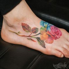 Colorful rose by Tattooist River