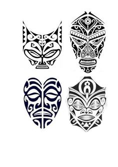 mascaras Enata Polynesian Tattoo Designs, Polynesian Art, Maori Tattoo Designs, Mayan Tattoos, Hawaii Tattoos, Tribal Tattoos, Tattos Maori, Samoan Tattoo, Body Art Tattoos