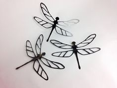 Metal Dragonfly Wall Hanging Art - One Dragonfly