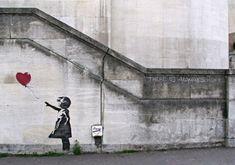 """Subastarán """"Niña con el globo"""" de Banksy   http://caracteres.mx/subastaran-nina-con-el-globo-de-banksy/?Pinterest Caracteres+Mx"""