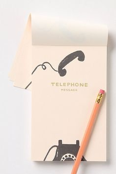 telephone message notepad at Anthropologie (via Matchbook Magazine)