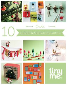 10 Cute Christmas Crafts Part 2 ~ Tinyme