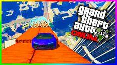 GTA 5 Online - MAZE BANK MEGA JUMP!!! (BIGGEST JUMP EVER) GTA 5 PS4 Funny Moments!