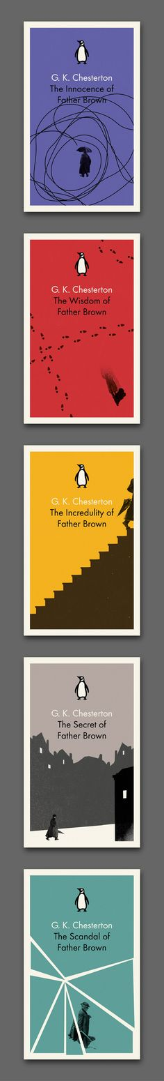 My first proper series design for Penguin — five Father Brown books by G.K. Chesterton. The design takes a little inspiration from Romek Marber's classic 1960s Father Brown covers, especially on The Innocence of ...