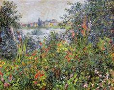 Flowers at Vetheuil - Claude Monet