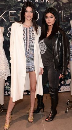 Kendall & Kylie. Kendall showing nice coat combo. Always nice to see her gorgeous legs. ;)