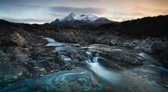 New Scottish landscape work by Julian Calverley, via Behance
