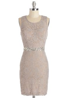 Speaking of Bewitch Dress. Has anyone ever told you how stunning you look in this lacy sheath dress? #tan #prom #modcloth
