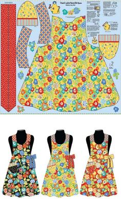 Church Ladies' Aprons by Mary Mulari for Penny Rose Fabrics—Subscribe to our newsletter at http://www.rileyblakedesigns.com/newsletter/