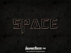 GraphicRiders | Sci-fi style – Space (free photoshop layer style, text effect, free psd file) #graphicriders