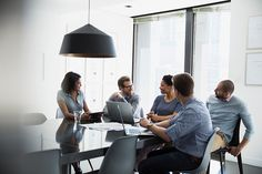 Stock Photo : Business people talking in conference room meeting