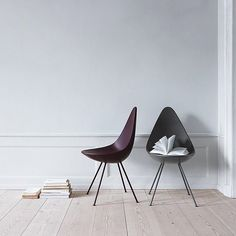 That unmistakable silhouette The 'Drop Chair' designed by Arne Jacobsen @fritz_hansen is striking as always - Love the way it pops against this neutral backdrop // #arnejacobsen #dropchair #fritzhansen #scandinavian #design #scandinaviandesign #furniture #midcentury #modern #interior #interiordesign #scandinavianhome #minimal #minimalism #simplicity #wood #livingroom by scandinavialist