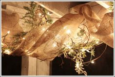 decorating a porch with burlap ribbon, home decor, outdoor living, porches, The best part of this project is the way it looks in the evening