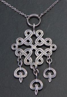Vintage Heikki Kaksonen Kaunis Koru Oy HK Collier, 916 Silber (S 89) | eBay