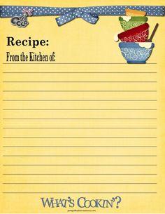 Recipe Cards! | Pink Polka Dot Creations 8.5x11