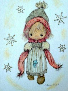 Deep in December it's Nice To Remember. Christmas Drawing, Christmas Paintings, Christmas Art, Vintage Greeting Cards, Vintage Christmas Cards, Amy Brown Fairies, Childhood Characters, Clark Art, Childhood Days