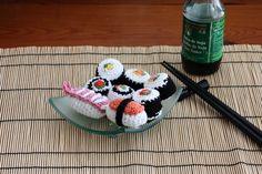 sushi crochet amigurumi