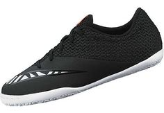 Nike Kids MercurialX Pro Street Indoor Shoes - Black and Hot Lava