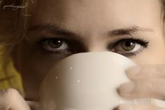 coffee with eyes