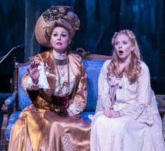 """Heather Ayers (Countess Charlotte Malcolm) and Carly Bracco (Anne Egerman) in ETC's  """"A Little Night Music"""" at the New Vic Theatre.  December 4, 2013.  #ALNM  #etcsb  #NewVic"""