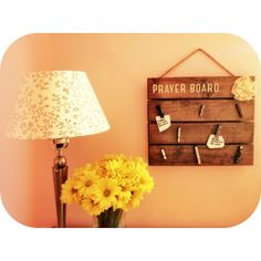Each family can make a family prayer board for their house... Keeping prayer alive in the home