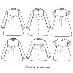 45460c1b5a647 Patron de couture Blouse   Robe LOUISE PDF 3-12A – ikatee Light Denim